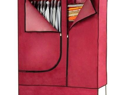红色简易布衣柜安装图