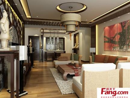 2017全国中式家装效果图 房天下装修效果图图片