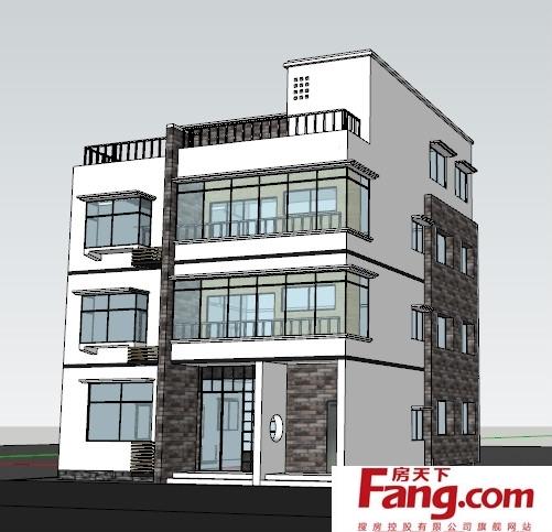 长方形农村三层房屋设计图 (501x483)-长方形房屋户型设计图