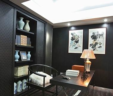简约经典新中式风格书房装修图片