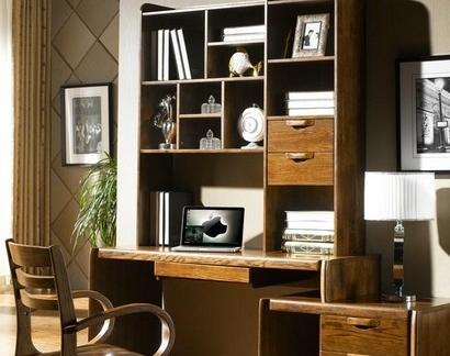 简约书房中式实木家具图片