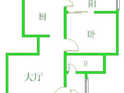 2013年典雅两室两厅一卫设计户型图