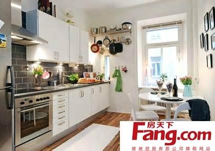 30平米公寓开放式厨房装修效果图大全欣赏