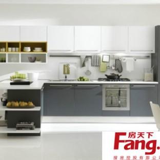 大户型开放式厨房吧台装修效果图