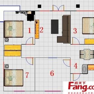 图 平农村大户型平房室内设计平面图 带外观效果图 ...
