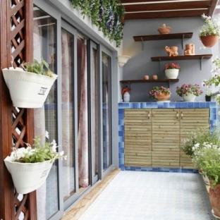 阳台地面装修效果图集图片