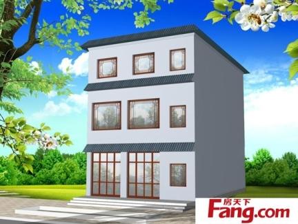 长方形农村三层房屋设计图-2017长方形房屋装修 房天下装修效果图