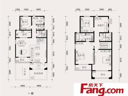 2013农村小别墅二层平面设计图