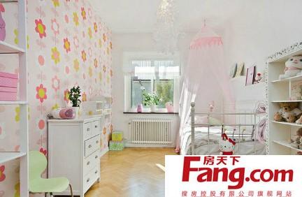 清爽可爱儿童房间装修效果图