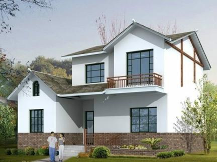 农村自建二层别墅外观效果图