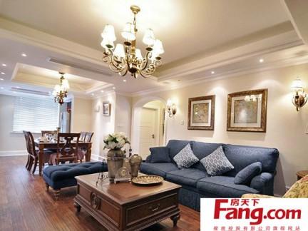 欧式古典风风格80平米两室一厅装修效果图图片