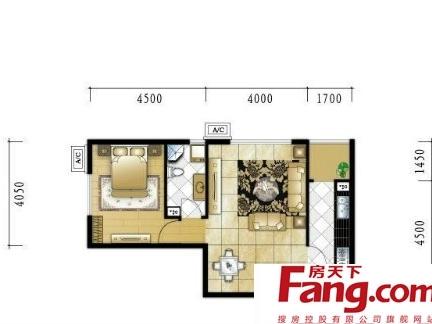 农村大户型平房屋户型平面设计图纸-2018二居室长方形房屋设计图纸 图片