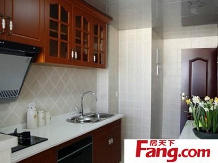 现代厨房墙砖贴图-2018现代厨房墙砖效果图 房天下装修效果图