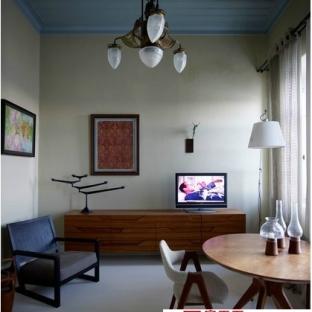 新中式风格厨房吧台120平米装修效果图图片