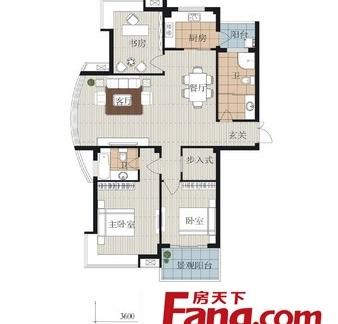高层住宅120平户型图-2017高层住宅装修效果图 房天下装修效果图