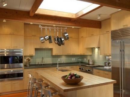 北欧风格开放式厨房吧台装修效果图图片