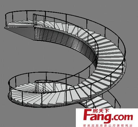 实木台阶旋转楼梯平面图片