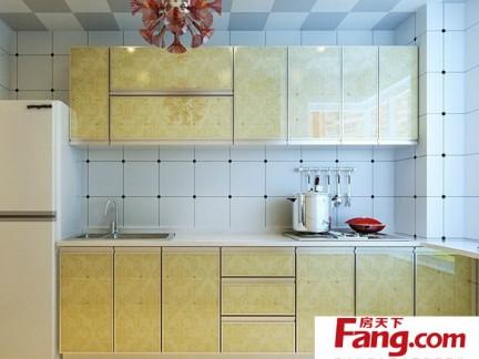 小型厨房墙面瓷砖装饰装修效果图