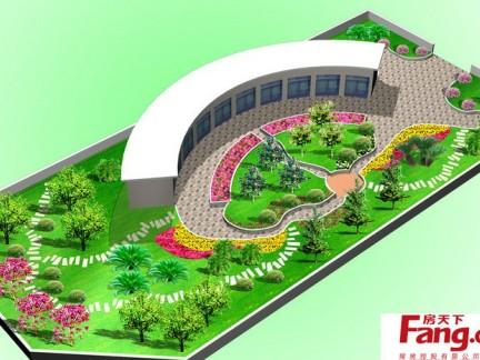 手绘设计屋顶花园平面图