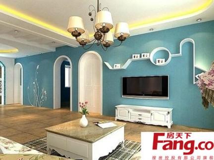 地中海风格儿童卧室墙纸装修图