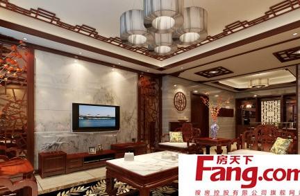 中式家庭电视墙图片图片