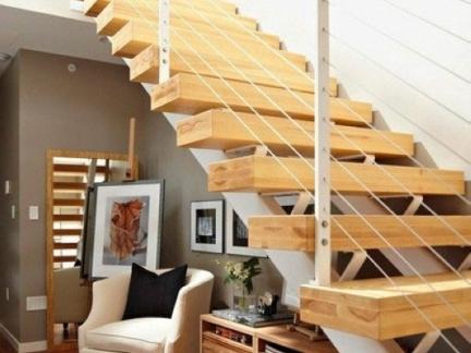 阁楼楼梯装修效果图 楼梯装修设计