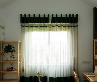 现代新中式装修窗帘效果图图片