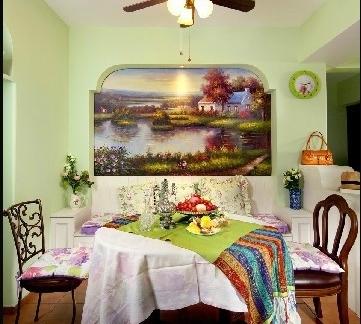 清新小餐厅40平米小户型平面图