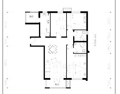 两室一厅70平米小户型设计图图片