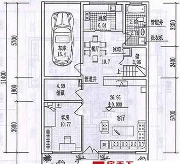 2018两间两层楼房装修设计图 房天下装修效果图
