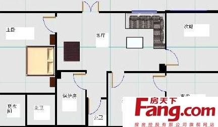 农村平房平面设计图纸-2018平房设计效果图纸 房天下装修效果图图片