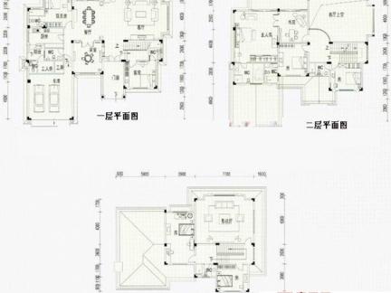2017三层别墅设计图平面图-房天下装修效果图