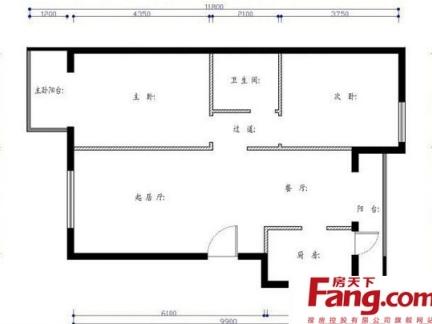 农村长方形平房设计图纸-2017农村平房设计图平房装修效果图 房天下
