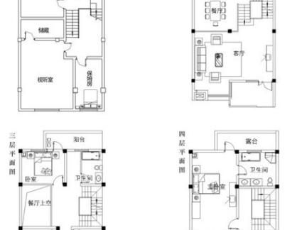 四层水中宫殿别墅设计图图片