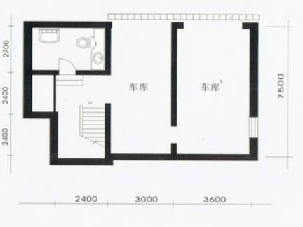 农村两层别墅地下层户型图