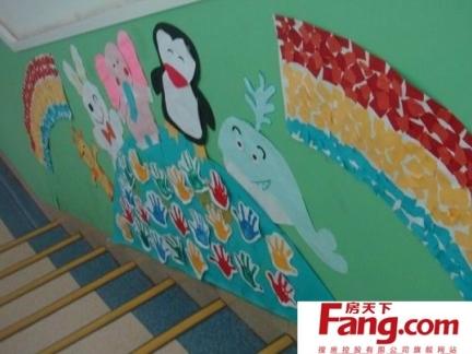 简约幼儿园走廊布置效果图片