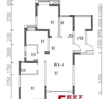 五房一厅楼房平面图纸
