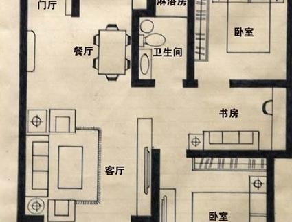 农村平房屋平面设计户型图纸-2017房屋设计平面图 房天下装修效果图图片