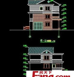 农村楼房外形设计布局图