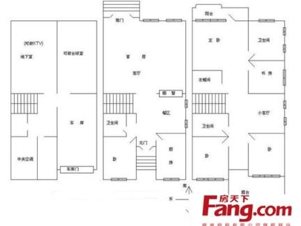 小型别墅三层平面设计图-2017小型别墅设计平面图 房天下装修效果图图片