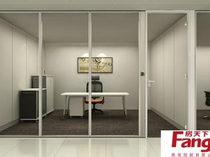 简单办公室玻璃隔断图片赏析