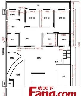 2层楼房室内布局平面户型设计图纸-2017楼房户型平面图 房天下装修图片