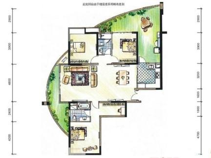 萨伏伊别墅构造总平面图