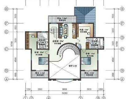 两层别墅平面设计图