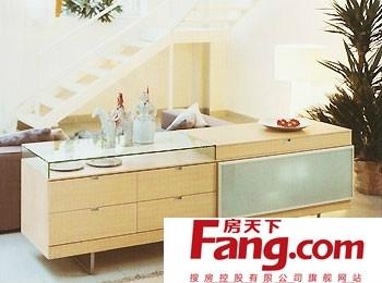 欧式风格实木餐边柜效果图欣赏