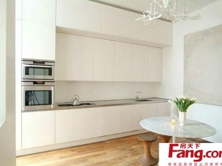 白色风格简欧厨房装修效果图