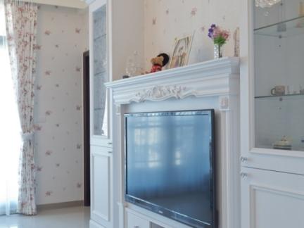 简欧式电视背景墙装修效果图大全