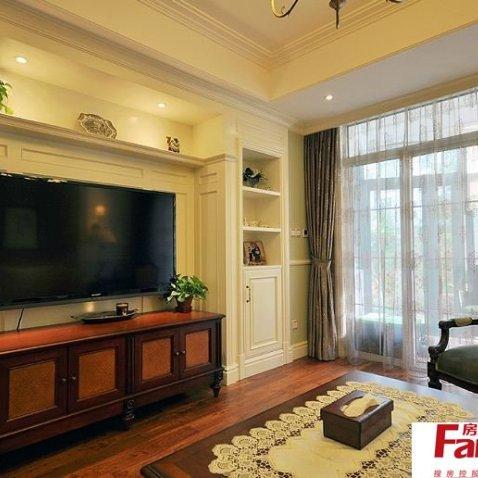 美式风格电视柜设计图-搜房网装修效果图图片