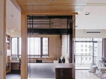 室内生态木吊顶效果图
