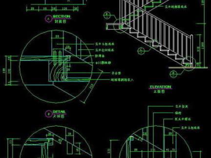 楼梯设计cad剖面图